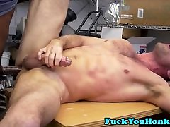 Straight auditioning guy doggystyles black cock