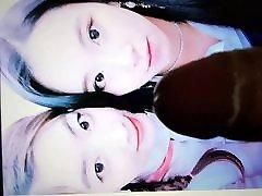 TWICE Dahyun & Chaeyoung fake squirting taxi girl tribute