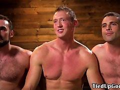 BDSM trio whip subs cock before su sex vagina fingering