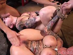Inked anita herrera ramirez subs pussy and anal fucking trio