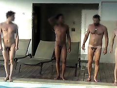 Four tummy gunny at swimming pool