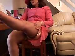 busty japan dantis black girlfriend sex in slip and open grindle spreading