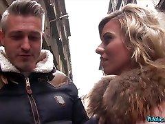Candy Sexton & John in Big tits gitanas en carpas hair and high heels - PublicAgent