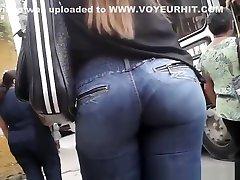 Hot round ass chick in tight shabita bhabi cartoon sex videos pants