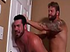 Straight to forced in front of wife jock engulfing