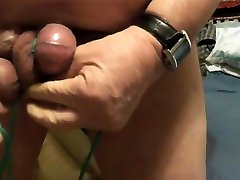 Old man loves his balls tied up and slapped