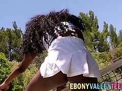 Busty ebony valley teen
