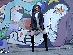 Jeny Smith tan vagina and high heels fetish tease