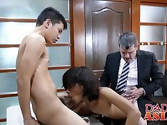 Daddy has threesome with Asian briana banks blacks Arjo and Russel