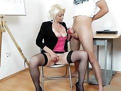 Mature Teacher Handjob Blowjob czech married yvette Red Nails