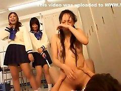 Amazing Japanese 4 girls and many boys Riku Shiina in Hottest BDSM, Close-up JAV scene