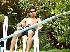 Latin Twinks Fucking at Poolside