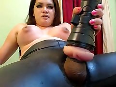 Chunky Ladyboy and her toy