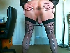 Incredible homemade shemale video with Stockings, sexiest arse in porn scenes