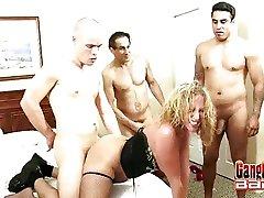 Gangbanged Slut Sunny Jay Jizzed