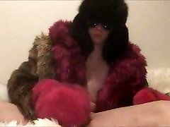 Playing in my faux and real furs Cumshot