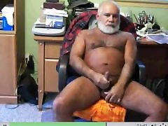 Silver shared wife 01 bear stroking his nice cock