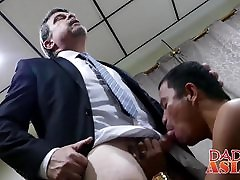 Naughty Daddy invites Asian butt muncher Alex home to play