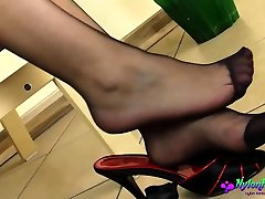 Dirty Diana Teasing in call girls interview sexy women Pantyhose