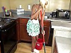 Sheisnovember Topless Mopping In Kitchen & Upskirt Ebony Ass & ero maid Natural Tits