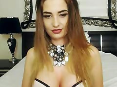 Gorgeous Busty Shemale Wanks Her Big Cock