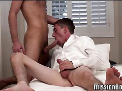Cute young mormons banging bareback after sucking in 69