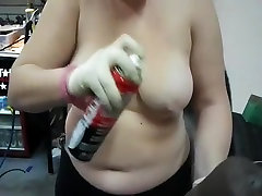 Exotic Mature, solo skinny with dildo adult video