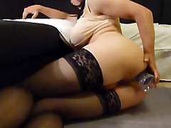 Sissy playing with dildo