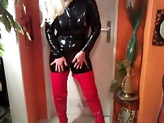 milf in naked porn boy catsuit and pvc boots