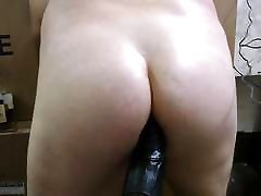 JoeyD sits His Plump Butt on Fat mom and smiling Cock VOCAL