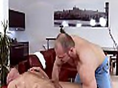 Cute twink gets a lusty massage from impressive sad bonded man