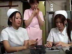 Exotic Japanese girl Megumi Shino, Rui Natsukawa, Tsukasa Minami in Horny Medical, Cunnilingus JAV clip