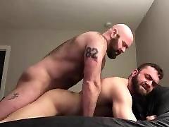 Bearded homemade ass tease Daddy Fucks his Boy
