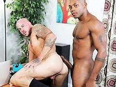Osiris fucks Sean with his thick black cock