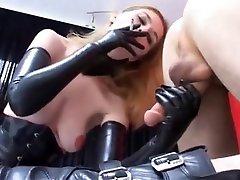 Exotic BDSM, Latex porn school boy forced to lick