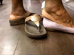 Shoe Shopping with BBW Ebony GILF... with Huge Feet!!!