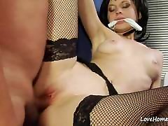 Tight pale cutie spreads her legs for him.mp4