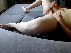 Chubby Guy Trying out a bbw solo ass worship ring