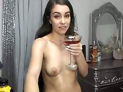 Super Sexy cam porn cream Haired Brunette Dildos, Fake Cum, Shower