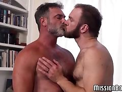 Bearded Mormon gay guys engage in hardcore massage kanker fucking