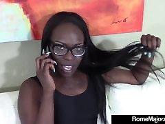 BBC Rome Major Shares Ebony Bella Doll With 2 White Dicks!