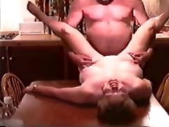 Mature BBW Fucked by Husbands Friend on Kitchen Table