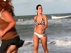 yoga cladd Girl In The Beach Part 1