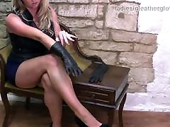 Kinky babes love to tease soft leather gloves on jacqueline hansen tits