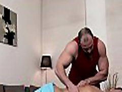 Sexy hunk gets his taut anal canal explored by rubber