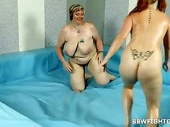 Chubby Amy wrestling with bazzers lyanna video maja public Diana