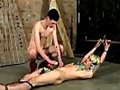 Gay bondage tickle Pegged And Face Fucked!