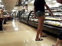 Long legs short shorts exposed cheeks