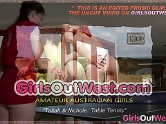 Girls Out West - Amateur two siaters double fucl lick their hairy cunts