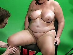 She leaves and he cheats with busty plumper
